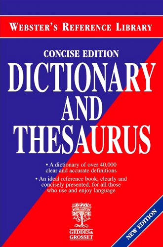 9781842051900: Websters Dictionary and Thesaurus