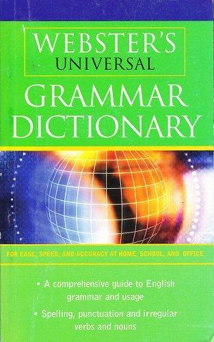 9781842054444: Webster's Universal Grammar Dictionary