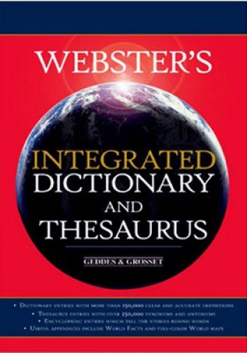 9781842055922: Webster's Integrated Dictionary and Thesaurus