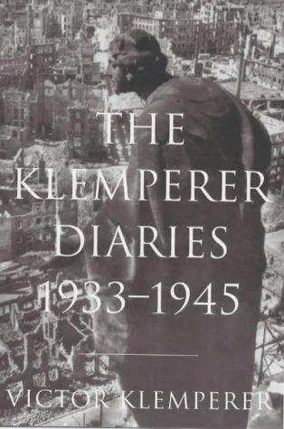 9781842120224: The Klemperer Diaries: v.1 & 2. (Vol 1 & 2)