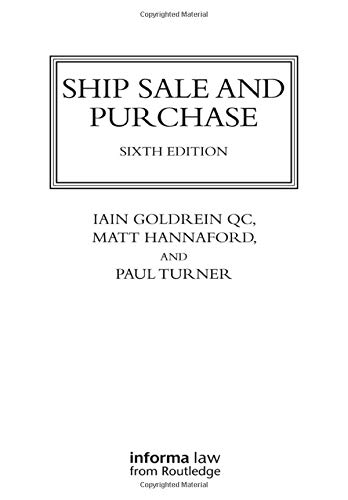 9781842145876: Ship Sale and Purchase (Lloyd's Shipping Law Library)