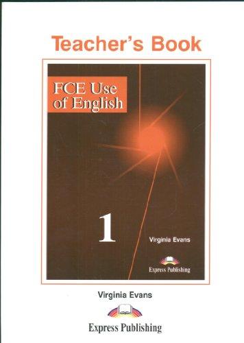 9781842168301: FCE Use of English: Teacher's Book Level 1