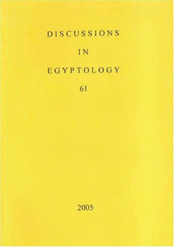 9781842171844: Discussions in Egyptology vol 61 (v. 61)