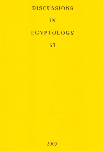 Discussions in Egyptology 2005: Volume 63: v. 63: Alessandra Nibbi