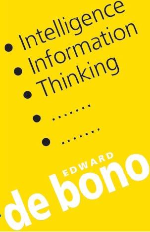 Intelligence Information Thinking (9781842181331) by Edward de Bono