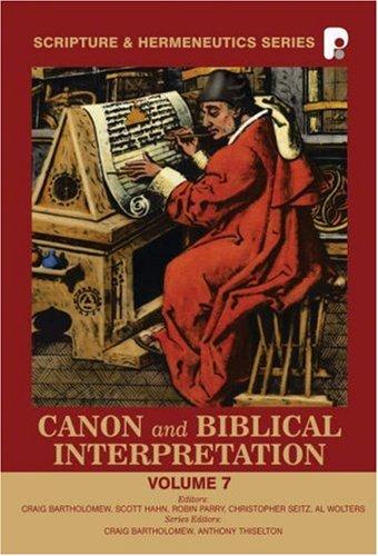 9781842270714: Canon and Biblical Interpretation