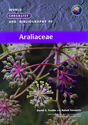 9781842460481: World Checklist and Bibliography of Araliaceae