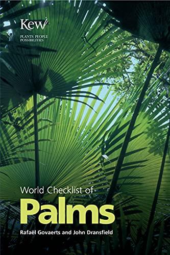 9781842460849: World Checklist of Palms