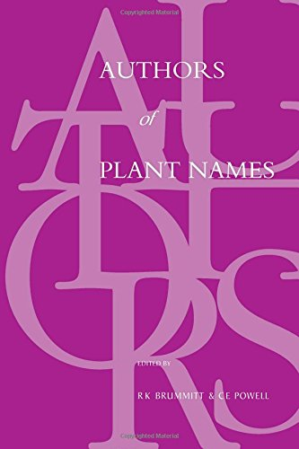 9781842460856: Authors of Plant Names