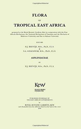 Flora of Tropical East Africa: Aspleniaceae (Paperback): Royal Botanic Gardens Kew