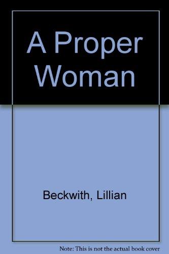 9781842627549: A Proper Woman