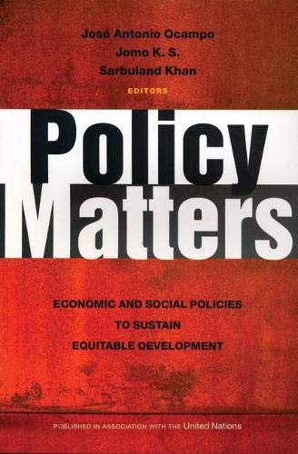 9781842778357: Policy Matters: Economic and Social Policies to Sustain Equitable Development