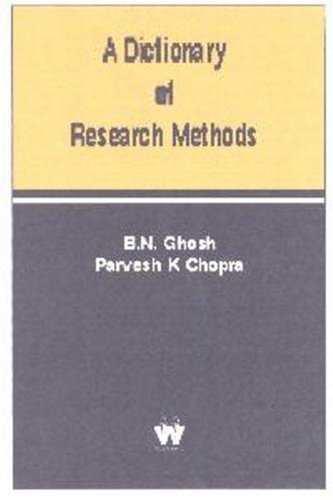 9781842900420: A Dictionary of Research Methods