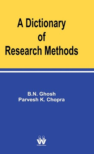 9781842901649: A Dictionary of Research Methods