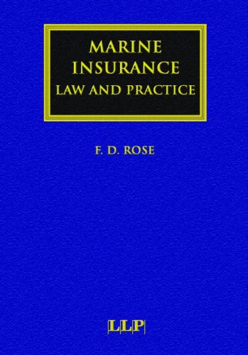 9781843112471: Marine Insurance: Law and Practice (Lloyd's Shipping Law Library)