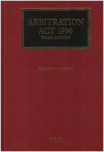 9781843114208: Arbitration Act 1996: Third Edition
