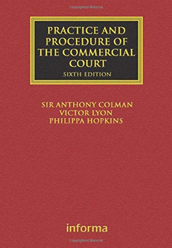9781843117308: The Practice and Procedure of the Commercial Court (Lloyd's Commercial Law Library)