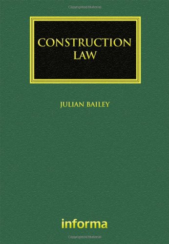 9781843119173: Construction Law (Construction Law Library)