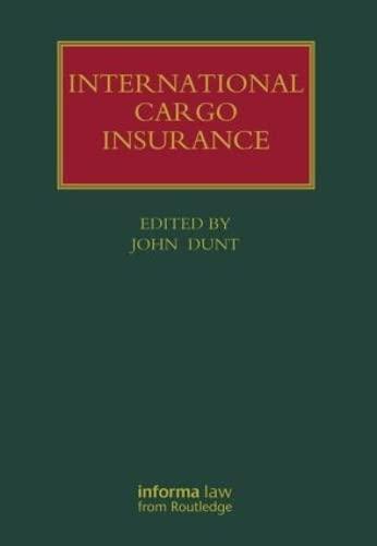 International Cargo Insurance (Hardback)