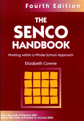 9781843120315: SENCO HANDBOOK FOURTH EDITION: Working Within a Whole-school Approach