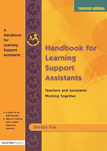 9781843120810: A Handbook for Learning Support Assistants: Teachers and Assistants Working Together