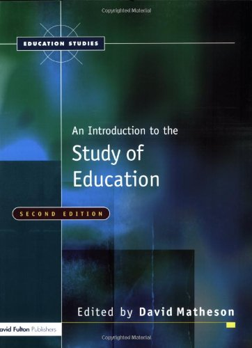 9781843121343: An Introduction to the Study of Education