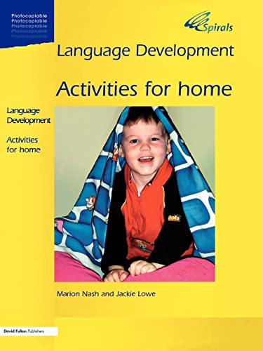 Language Development 1a: Activities for Home: Marion Nash