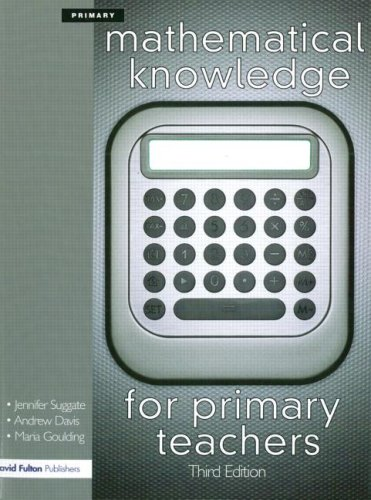 9781843124245: Mathematical Knowledge for Primary Teachers, Third Edition