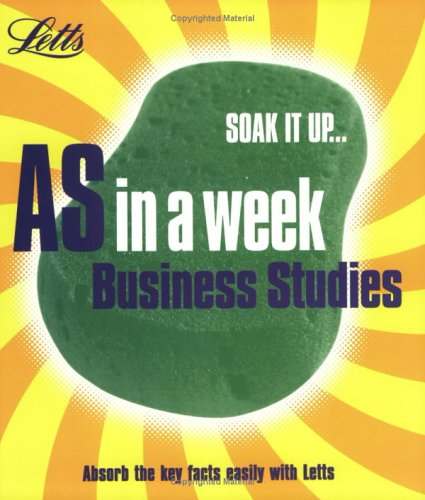 9781843153511: Business Studies (Revise AS Level in a Week)