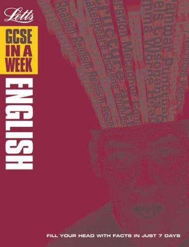 9781843154600: GCSE English (GCSE in a Week)