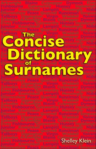 9781843170891: The Concise Dictionary of Surnames