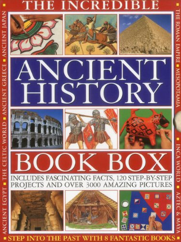 9781843228004: THE INCREDIBLE ANCIENT HISTORY BOOK BOX: Step into the past with 8 fantastic books: Ancient Greece, The Inca World, Mesopotamia, The Roman Empire, ... The Aztec & Maya Worlds, The Celtic Worlds