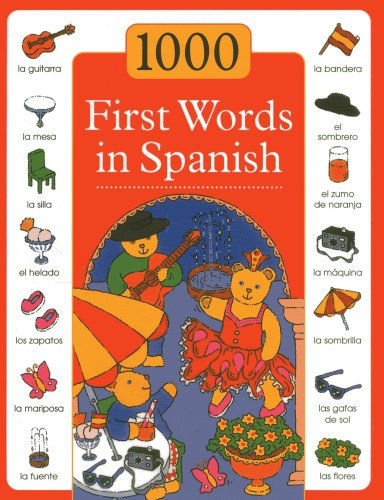 1000 First Words in Spanish: Budds, Sam