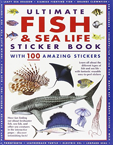 9781843229964: Ultimate Fish & Sea Life Sticker Book: With 100 Amazing Stickers