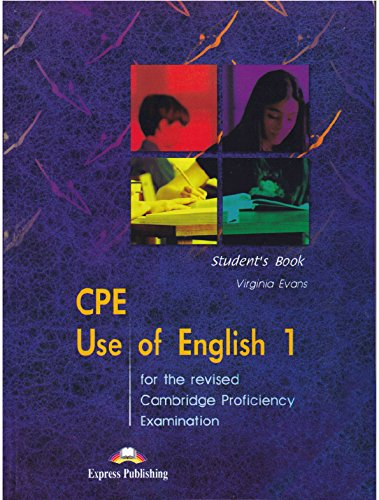 9781843253655: CPE Use of English 1 for the Revised Cambridge Proficiency Examination: Student's Book