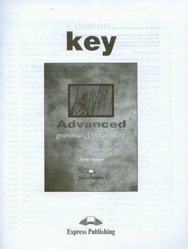 9781843258773: Advanced Grammar & Vocabulary Key