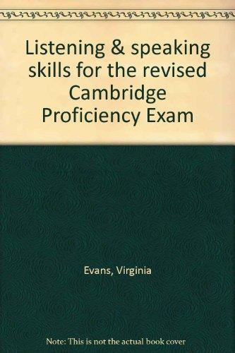 9781843259510: Listening & speaking skills for the revised Cambridge Proficiency Exam