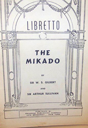 9781843284895: Mikado (Libretto)