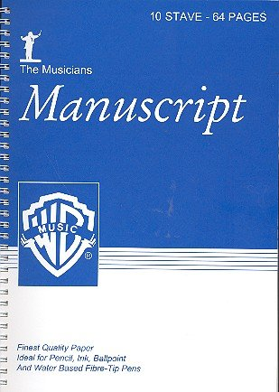 9781843285038: The Musician's Manuscript -- 10 Stave Full Size: White paper (Spiral-Bound Book)