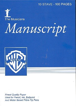 9781843285045: The Musician's Manuscript -- 10 Stave Full Size: White paper, Pad