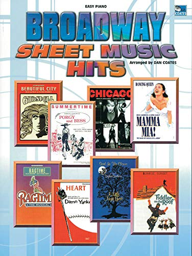 9781843287537: Broadway Sheet Music Hits (Easy Piano) Piano, Voix, Guitare