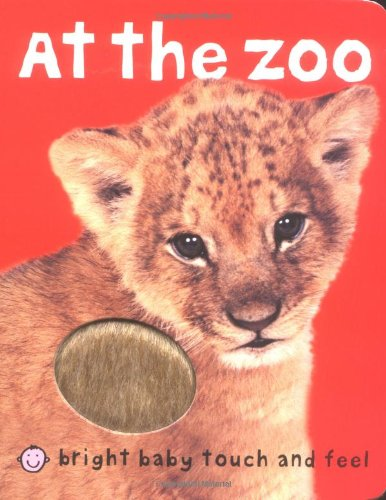 9781843324164: At The Zoo: Fold Out Treasure Hunt (Bright Baby Touch and Feel)