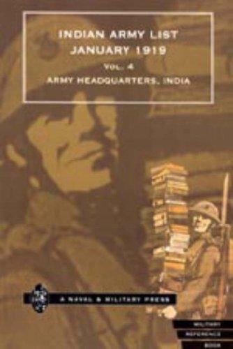 9781843420439: Indian Army List January 1919