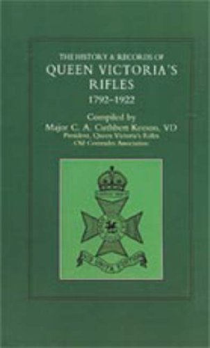 History and Records of Queen Victoria's Rifles 1792-1922: Keeson, C.A.Cuthbert