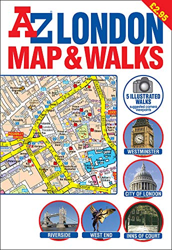 9781843480297: A-Z London Map and Walks (Street Maps & Atlases)