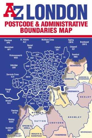 Postcode Map of London (Street Maps and: Geographers A-Z Map