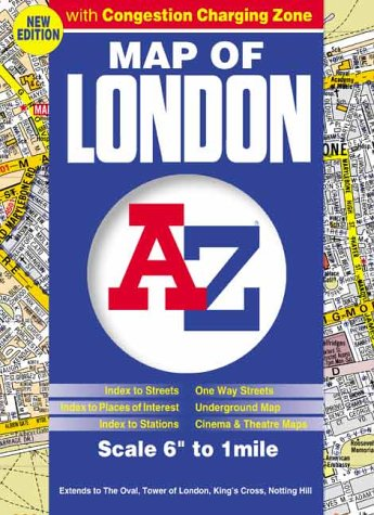 9781843480730: A-Z Map of London: Congestion Zone (Street Maps & Atlases)