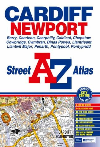 A-Z Street Atlas of Cardiff and Newport: Geographers A-Z Map