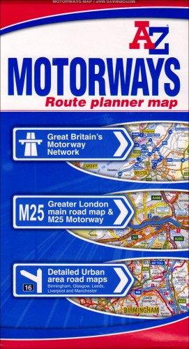 9781843482598: Motorways England/Wales Route Planner Map AZ
