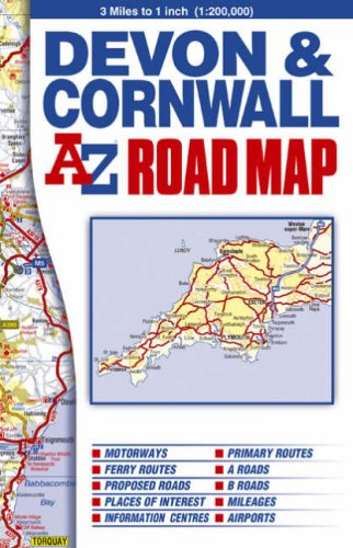 9781843485322: Devon and Cornwall Road Map